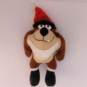"""SANTA TAZ"" plush stuffed animal McDonald's 1992"